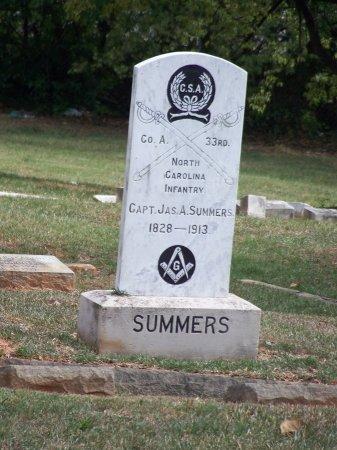SUMMERS (VETERAN CSA), JAMES A. - Mecklenburg County, North Carolina | JAMES A. SUMMERS (VETERAN CSA) - North Carolina Gravestone Photos
