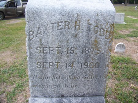 TODD, BAXTER H. - Mecklenburg County, North Carolina   BAXTER H. TODD - North Carolina Gravestone Photos