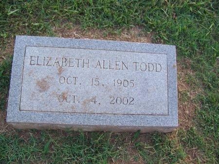 ALLEN TODD, ELIZABETH - Mecklenburg County, North Carolina | ELIZABETH ALLEN TODD - North Carolina Gravestone Photos