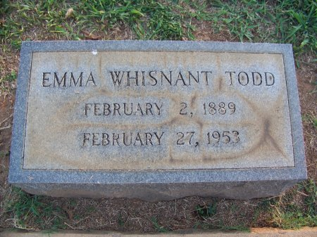 WHISNANT TODD, EMMA - Mecklenburg County, North Carolina | EMMA WHISNANT TODD - North Carolina Gravestone Photos