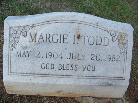 TODD, MARGIE I. - Mecklenburg County, North Carolina | MARGIE I. TODD - North Carolina Gravestone Photos