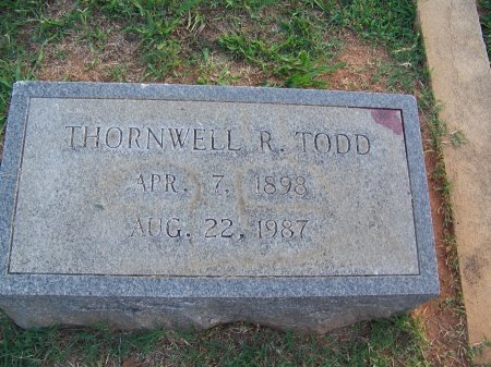 TODD, THORNWELL R. - Mecklenburg County, North Carolina | THORNWELL R. TODD - North Carolina Gravestone Photos