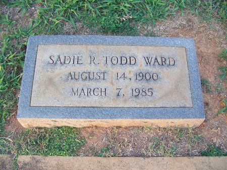 WARD, SADIE R. - Mecklenburg County, North Carolina | SADIE R. WARD - North Carolina Gravestone Photos