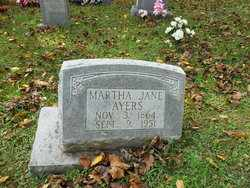 AYERS, MARTHA JANE - Mitchell County, North Carolina | MARTHA JANE AYERS - North Carolina Gravestone Photos