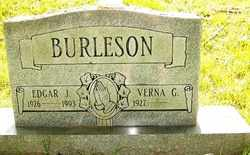BURLESON, EDGAR J. - Mitchell County, North Carolina | EDGAR J. BURLESON - North Carolina Gravestone Photos