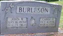 BURLESON, CARRIE G. - Mitchell County, North Carolina   CARRIE G. BURLESON - North Carolina Gravestone Photos