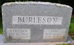 BURLESON, JANE - Mitchell County, North Carolina | JANE BURLESON - North Carolina Gravestone Photos