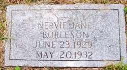 BURLESON, NERVIE JANE - Mitchell County, North Carolina   NERVIE JANE BURLESON - North Carolina Gravestone Photos