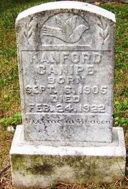 CANIPE, HANFORD - Mitchell County, North Carolina | HANFORD CANIPE - North Carolina Gravestone Photos