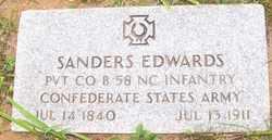 EDWARDS, SANDERS - Mitchell County, North Carolina | SANDERS EDWARDS - North Carolina Gravestone Photos