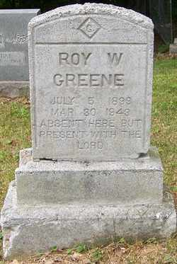 GREENE, ROY W. - Mitchell County, North Carolina   ROY W. GREENE - North Carolina Gravestone Photos