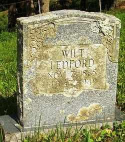 LEDFORD, WILT - Mitchell County, North Carolina | WILT LEDFORD - North Carolina Gravestone Photos
