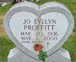 PROFFITT, JO EVELYN - Mitchell County, North Carolina | JO EVELYN PROFFITT - North Carolina Gravestone Photos