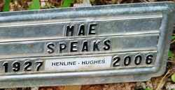 SPEAKS, MAE - Mitchell County, North Carolina | MAE SPEAKS - North Carolina Gravestone Photos
