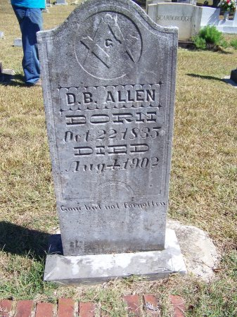 ALLEN, D. B. - Montgomery County, North Carolina | D. B. ALLEN - North Carolina Gravestone Photos