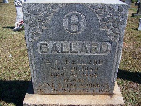 BALLARD, A. L. - Montgomery County, North Carolina | A. L. BALLARD - North Carolina Gravestone Photos