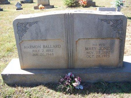 JONES BALLARD, MARY - Montgomery County, North Carolina | MARY JONES BALLARD - North Carolina Gravestone Photos