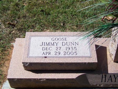 """DUNN, JIMMY """"GOOSE"""" - Montgomery County, North Carolina 