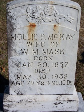 MASK, MOLLIE P. - Montgomery County, North Carolina | MOLLIE P. MASK - North Carolina Gravestone Photos