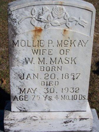 MCKAY MASK, MOLLIE P. - Montgomery County, North Carolina   MOLLIE P. MCKAY MASK - North Carolina Gravestone Photos