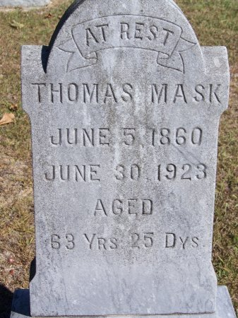 MASK, THOMAS - Montgomery County, North Carolina | THOMAS MASK - North Carolina Gravestone Photos