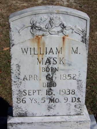 MASK, WILLIAM M. - Montgomery County, North Carolina | WILLIAM M. MASK - North Carolina Gravestone Photos