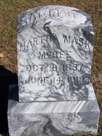 MASK MCBEE, MARTHA - Montgomery County, North Carolina   MARTHA MASK MCBEE - North Carolina Gravestone Photos