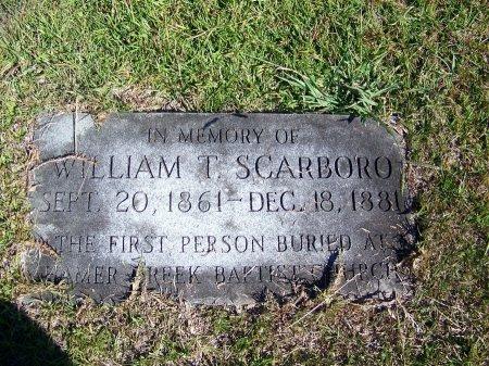 SCARBORO, WILLIAM T. - Montgomery County, North Carolina | WILLIAM T. SCARBORO - North Carolina Gravestone Photos