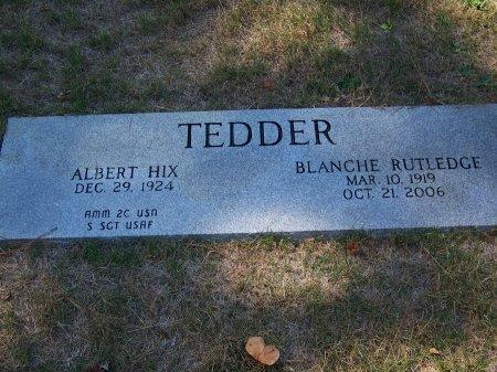 RUTLEDGE TEDDER, BLANCHE - Montgomery County, North Carolina | BLANCHE RUTLEDGE TEDDER - North Carolina Gravestone Photos