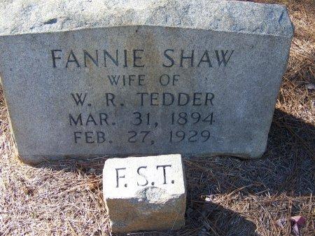SHAW TEDDER, FANNY - Montgomery County, North Carolina | FANNY SHAW TEDDER - North Carolina Gravestone Photos