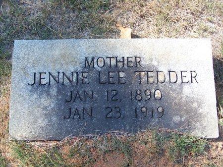 TEDDER, JENNIE LEE - Montgomery County, North Carolina | JENNIE LEE TEDDER - North Carolina Gravestone Photos