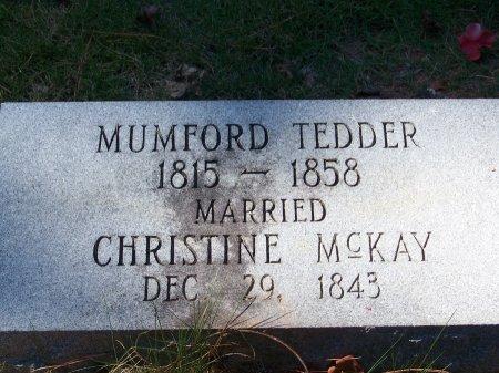 TEDDER, MUMFORD - Montgomery County, North Carolina | MUMFORD TEDDER - North Carolina Gravestone Photos