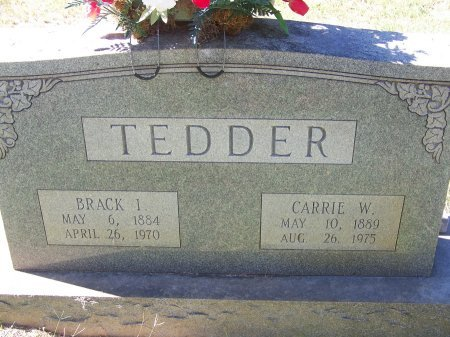 TEDDER, CARRIE W. - Montgomery County, North Carolina | CARRIE W. TEDDER - North Carolina Gravestone Photos