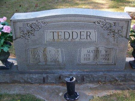 TEDDER, SR., FRANK P. - Montgomery County, North Carolina   FRANK P. TEDDER, SR. - North Carolina Gravestone Photos