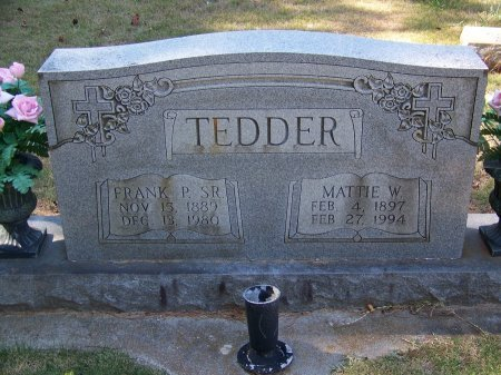 TEDDER, MATTIE W. - Montgomery County, North Carolina | MATTIE W. TEDDER - North Carolina Gravestone Photos