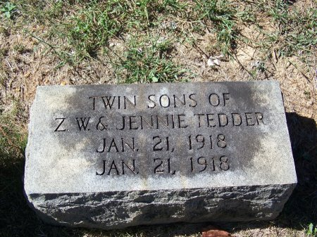 TEDDER, TWIN SONS - Montgomery County, North Carolina | TWIN SONS TEDDER - North Carolina Gravestone Photos