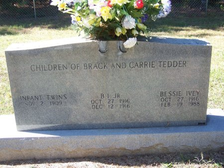 TEDDER, JR., B. I. - Montgomery County, North Carolina | B. I. TEDDER, JR. - North Carolina Gravestone Photos