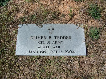 TEDDER (VETERAN WWII), OLIVER R. - Montgomery County, North Carolina | OLIVER R. TEDDER (VETERAN WWII) - North Carolina Gravestone Photos