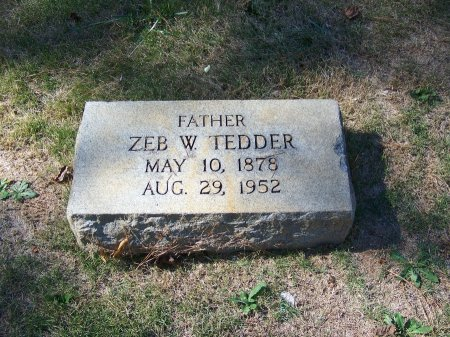 TEDDER, ZEB W. - Montgomery County, North Carolina | ZEB W. TEDDER - North Carolina Gravestone Photos