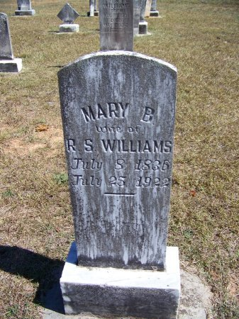 WILLIAMS, MARY B. - Montgomery County, North Carolina | MARY B. WILLIAMS - North Carolina Gravestone Photos