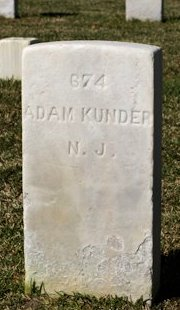 KUNDER (CIVIL WAR), ADAM - New Hanover County, North Carolina | ADAM KUNDER (CIVIL WAR) - North Carolina Gravestone Photos