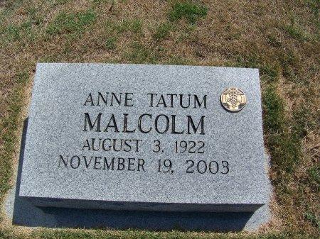 TATUM MALCOLM, ANNE - Scotland County, North Carolina | ANNE TATUM MALCOLM - North Carolina Gravestone Photos