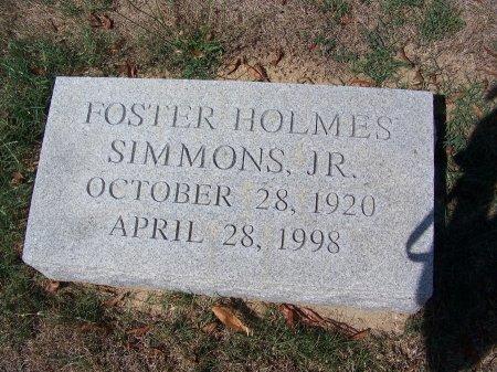 SIMMONS, JR., FOSTER HOLMES - Scotland County, North Carolina | FOSTER HOLMES SIMMONS, JR. - North Carolina Gravestone Photos